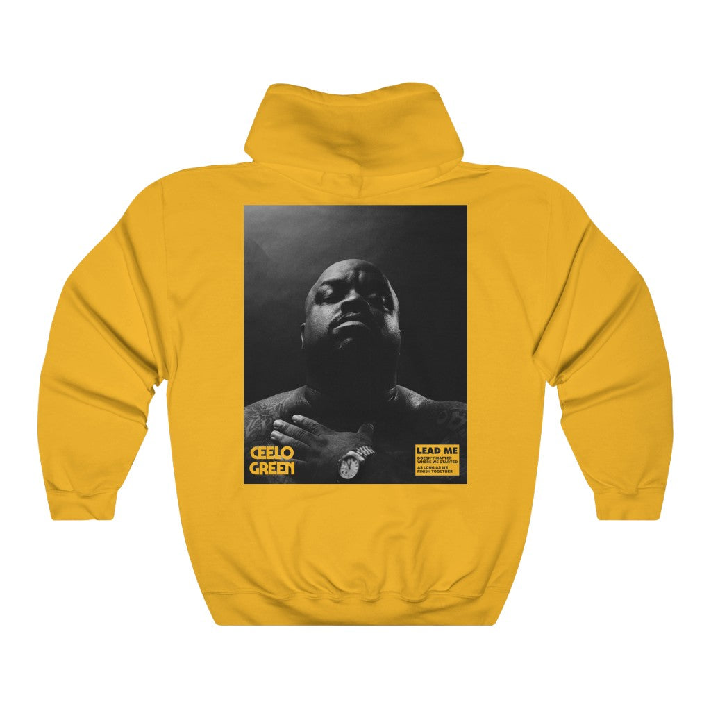 "Cee Lo Green - ""Lead Me"" Back Print V2 Gold Hoodie"
