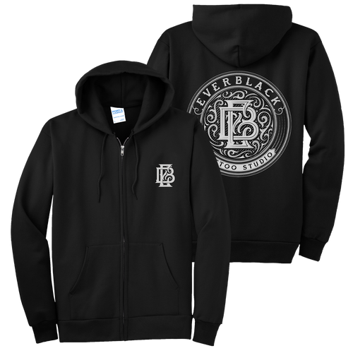 Ever Black Tattoo - Zip Up Hoodie (Pre-Order)