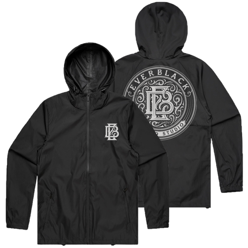Ever Black Tattoo - White on Black Windbreaker (Pre-Order)