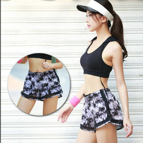 Women Mesh Sports Yoga Shorts