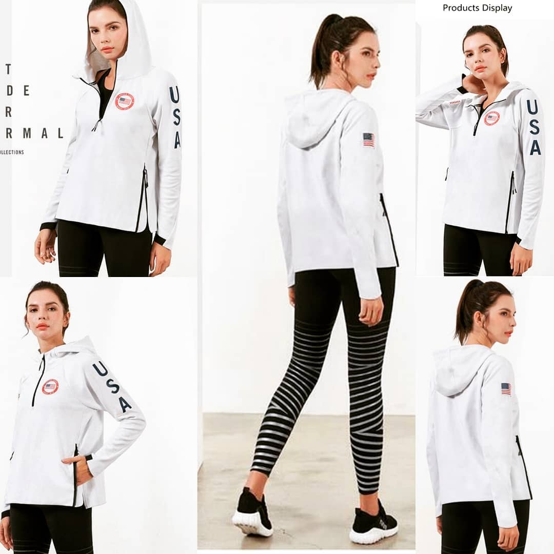 2019 New Fashion Trendy Women workout  Running Gym Sweatshirt