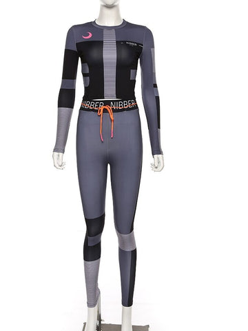 Women's activewear clothing two pieces set