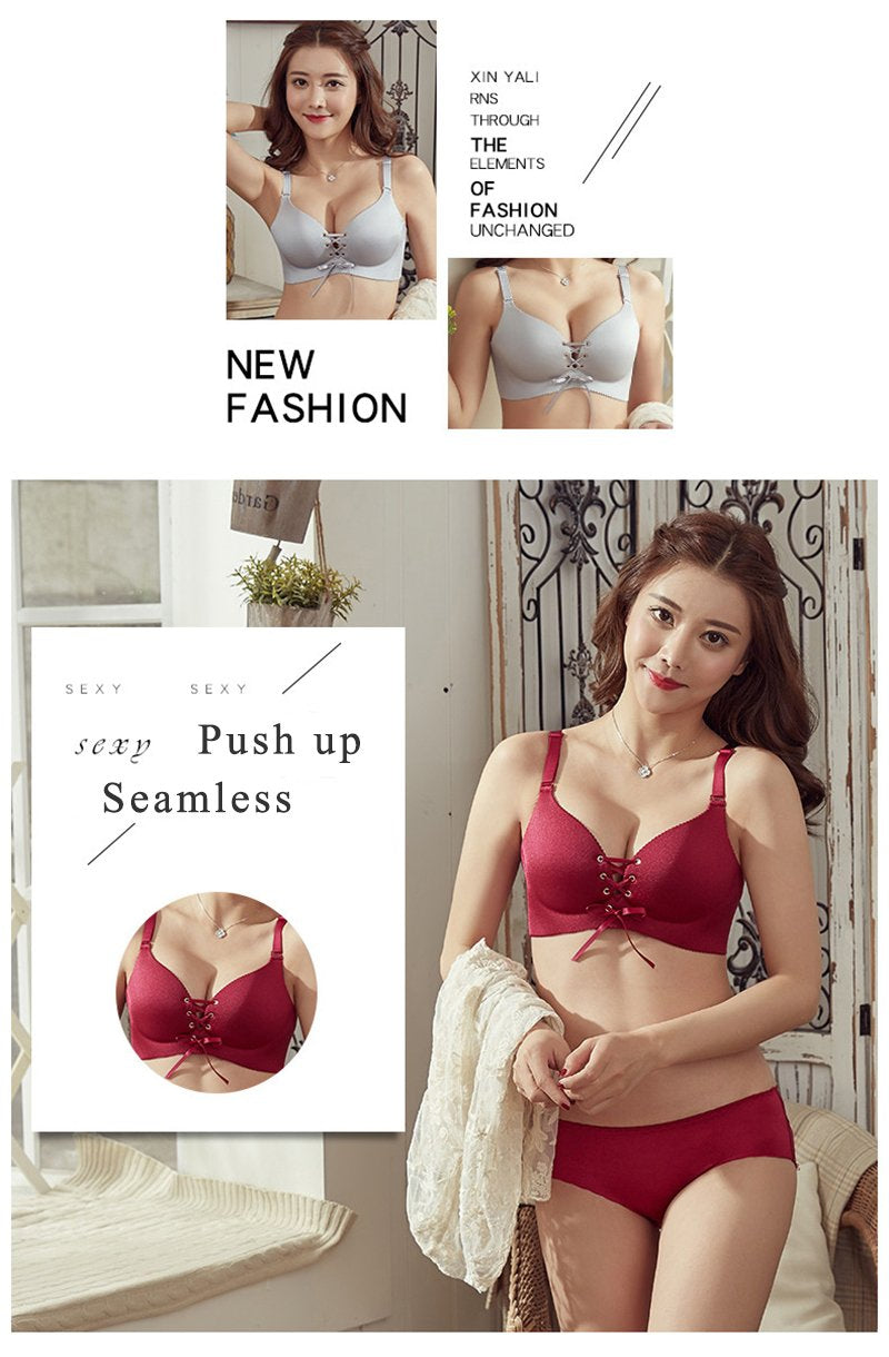 WOMEN FASHION PUSH UP LINGERIE WIRELESS COTTON BRALETTE UNDERWEAR