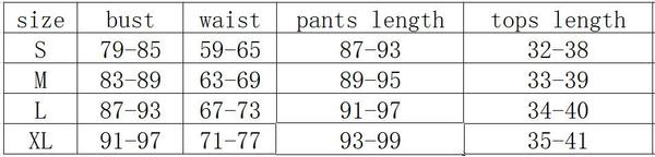 Women O-neck Letter Hollow Out Crop Top And High Waist Leggings Fitness Suits size chart