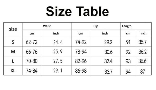 Breathable Pants Stretch High Waist Run Fitness Leggings SIZE CHART