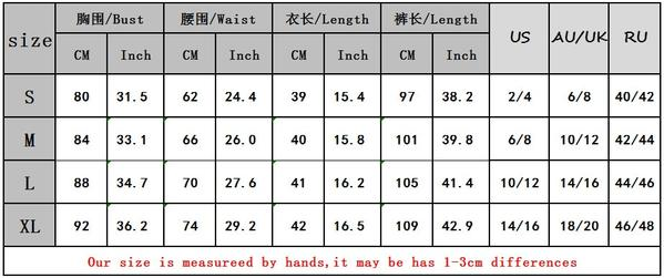 New 2019 Spring Women Sexy Two Pieces/Set Solid Long Sleeve Crop Tops and Legging Pants Autumn Female Casual two pieces Suits size chart