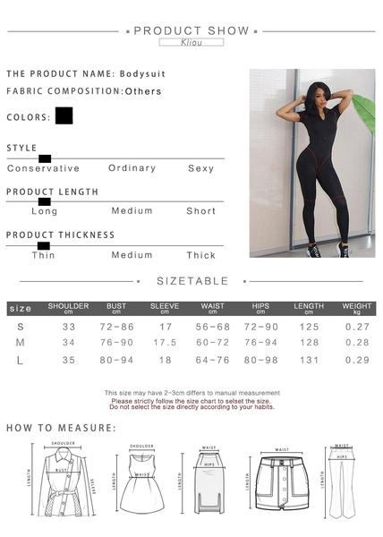 Women's short sleeve turtleneck zipper fly bodysuit size chart