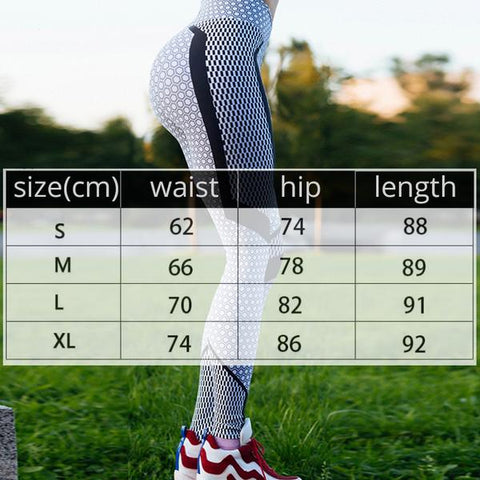 Ankle-Length Women Activewear Jeggings size chart