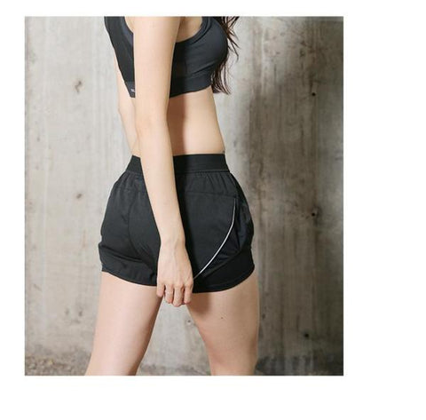 women's athletic shorts with zipper pockets