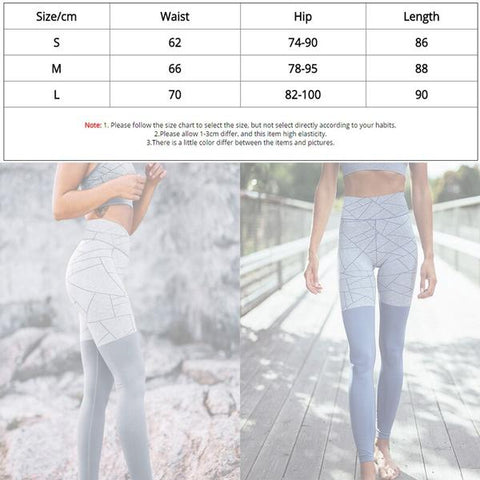 New Patchwork Leggings For Fitness SIZE CHART