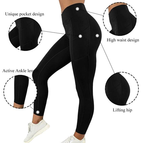 WOMEN WORKOUT LEGGINGS ACTIVEWEAR WITH SMARTPHONE POCKET