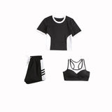 Plus size Women's Gym 5 Pieces Set S-4XL
