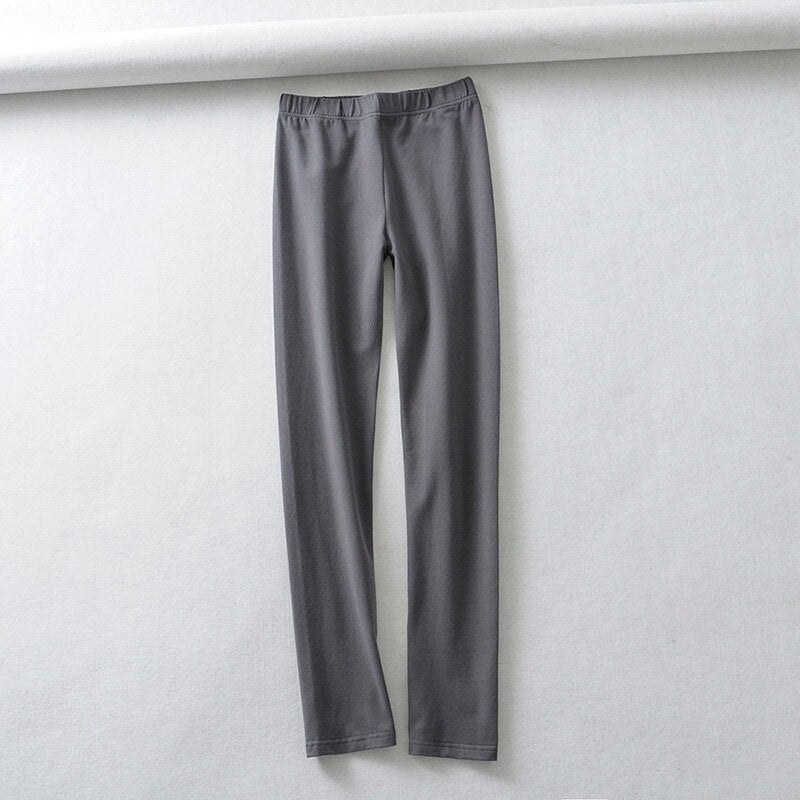 Women's High Elastic Waist Cotton Ankle-Length Leggings