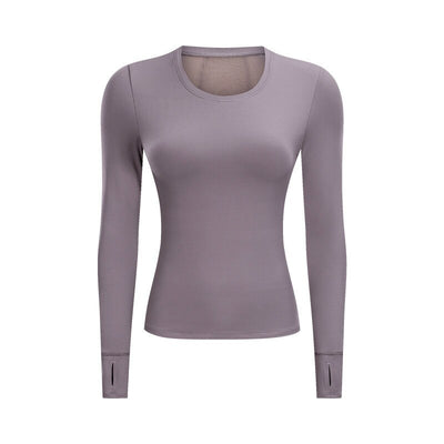 Workout Long-Sleeved Tops with Thumb Holes
