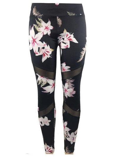 2 Pcs Women's Camouflage Floral Bra+Long Pants Yoga Set