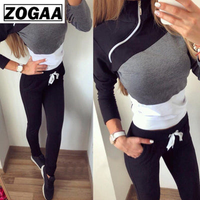 Long Sleeve Tops and Pants Pullover 2 Pieces Outfits for Women