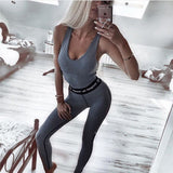 Women's Vest+Leggings Workout Set