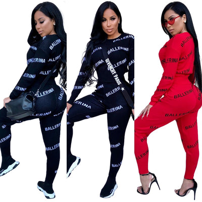 Fashion Tops + Pants Joggers Suits For Women