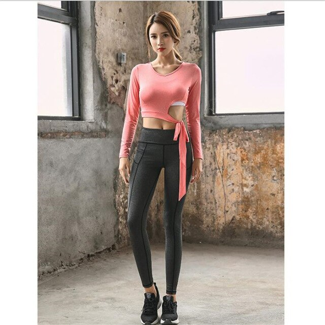 Fashion Crop Top T2 pcs/set women yoga set