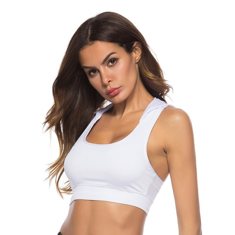 Women's white hooded quick-dry breathable activewear tops