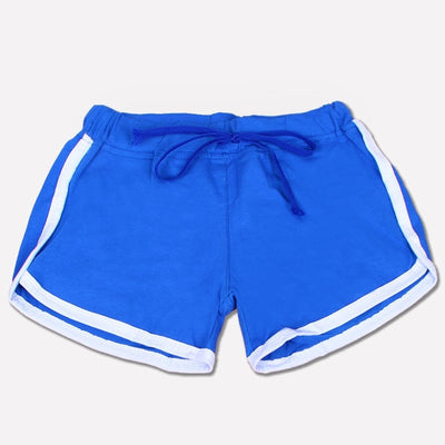 Anti Emptied Cotton Contrast Elastic Waist Women Sport Shorts