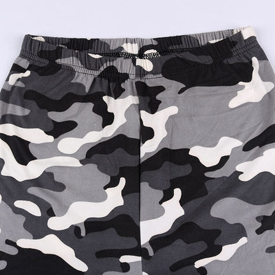 Women's High Elastic Skinny Army green camouflage workout leggings