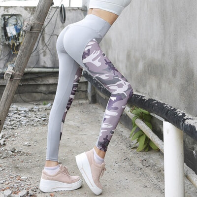 Women High Waist Sporting Sexy Push Up Pants Military Camo Leggings