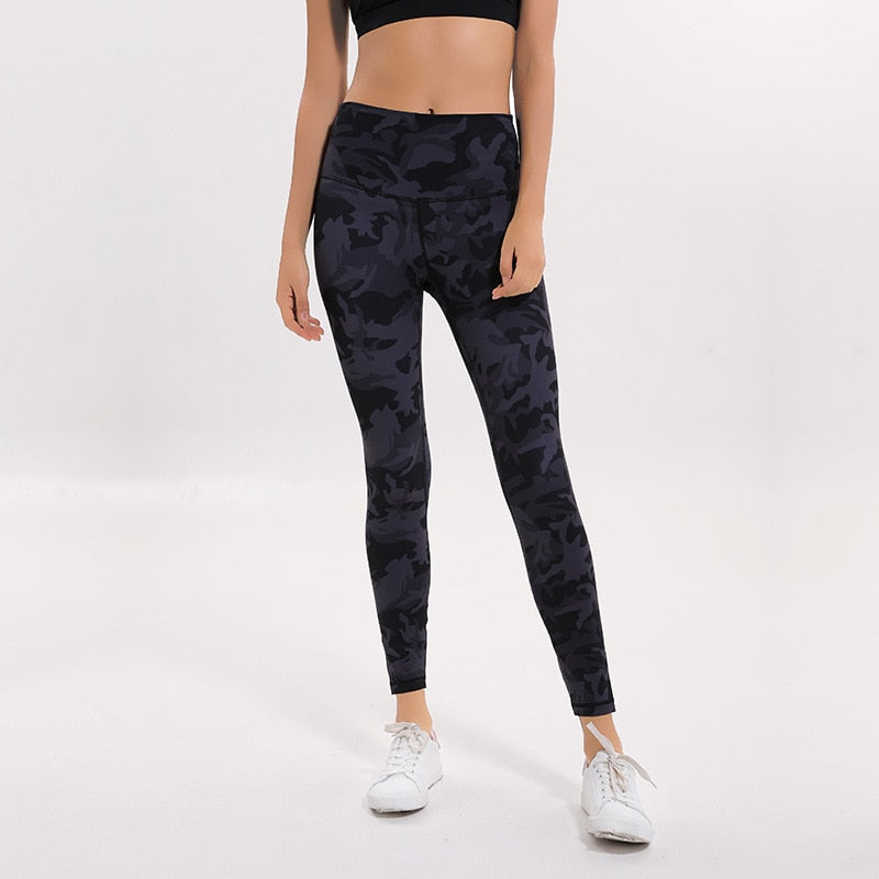 New Camo Printed Squatproof Workout Leggings