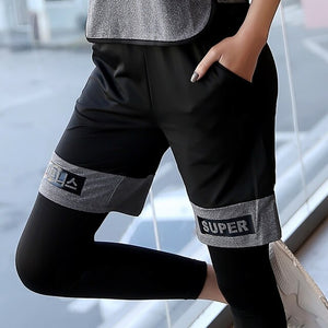 Elastic Loose Half Knee Length Women's Shorts for Running