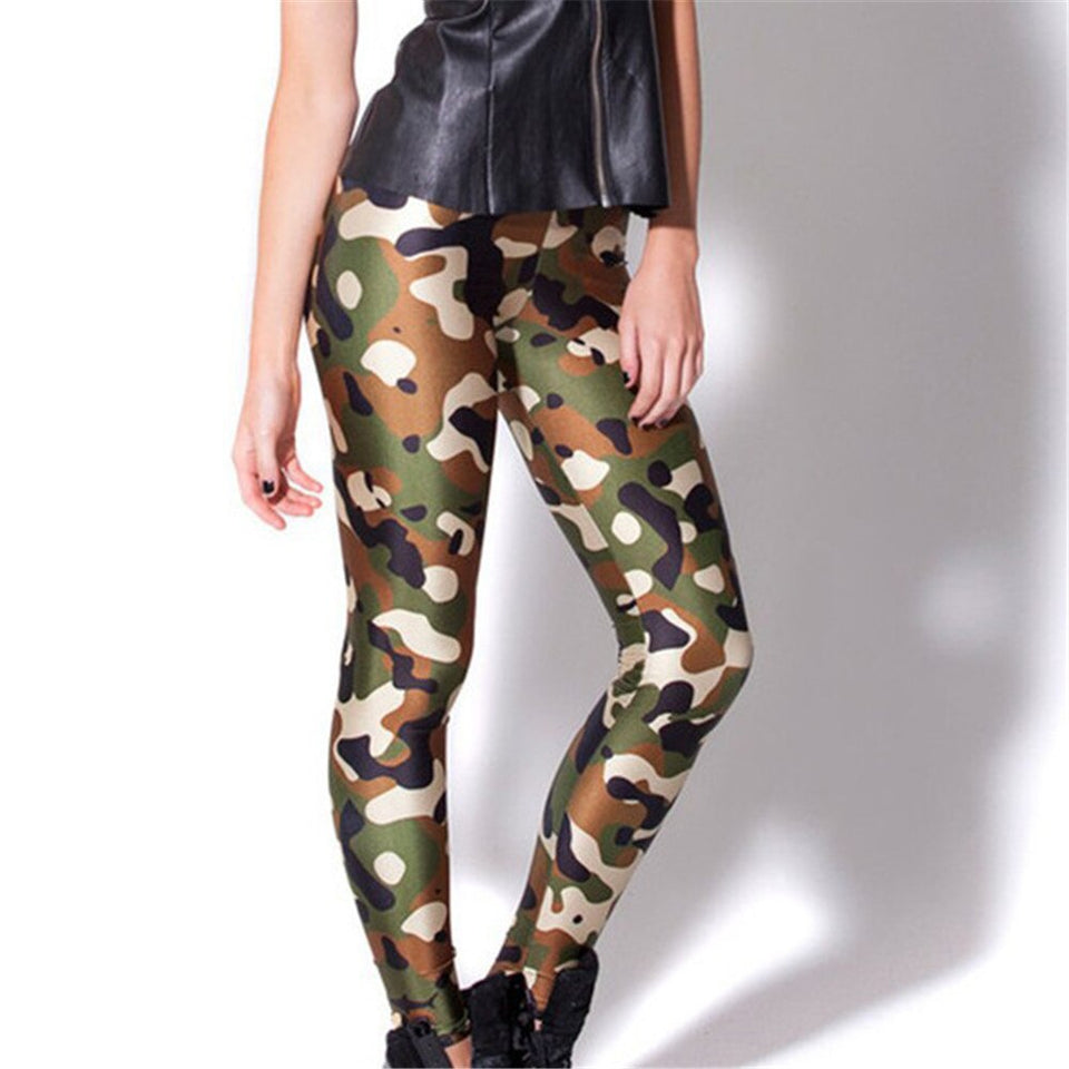 Push Up Hip Hop Army green workout leggings