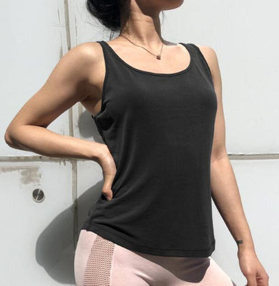 Fitness Women Breathable  Backless Sport T-Shirt