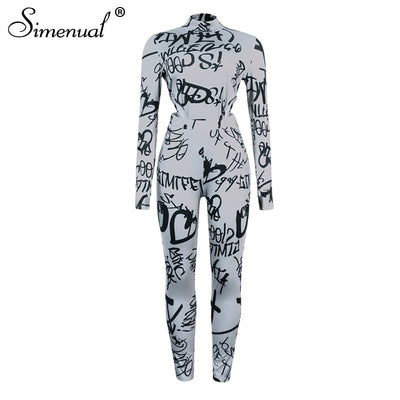 Letter Print   Long Sleeve Bodysuit And Pants Sets