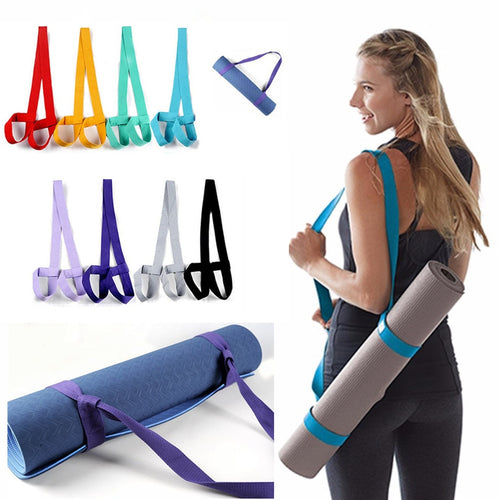 Adjustable Yoga Mat Straps Belt Shoulder Carrier