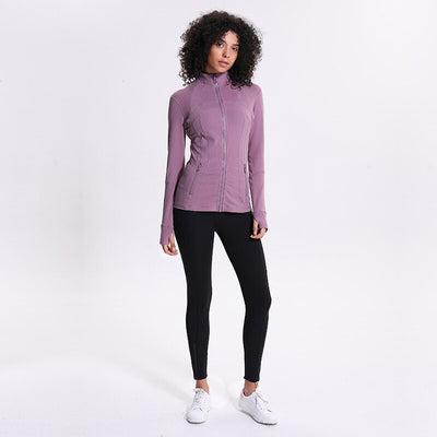 2020 Long-sleeved women's zip-front athletic jacket