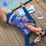 Women's Super Strech Surfing and Diving Rash Guards 5 Pieces Surf Swimwear