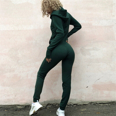 Knitted Top Shirts Sweatshirt Tops+Pants Green set