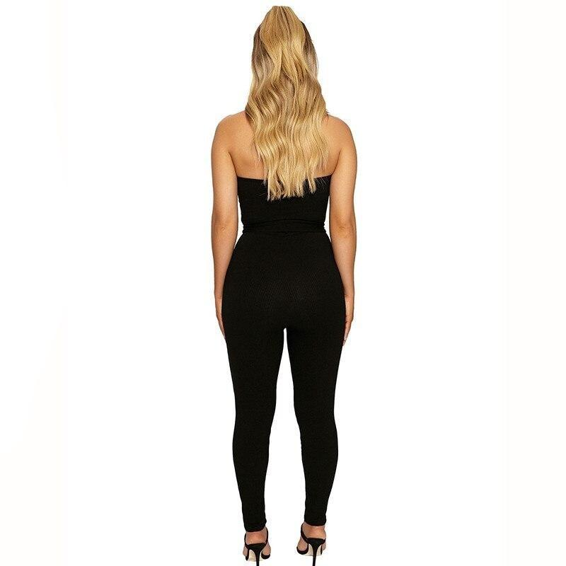 Cotton Strapless Sexy Bodycon Bandage Rompers Jumpsuit