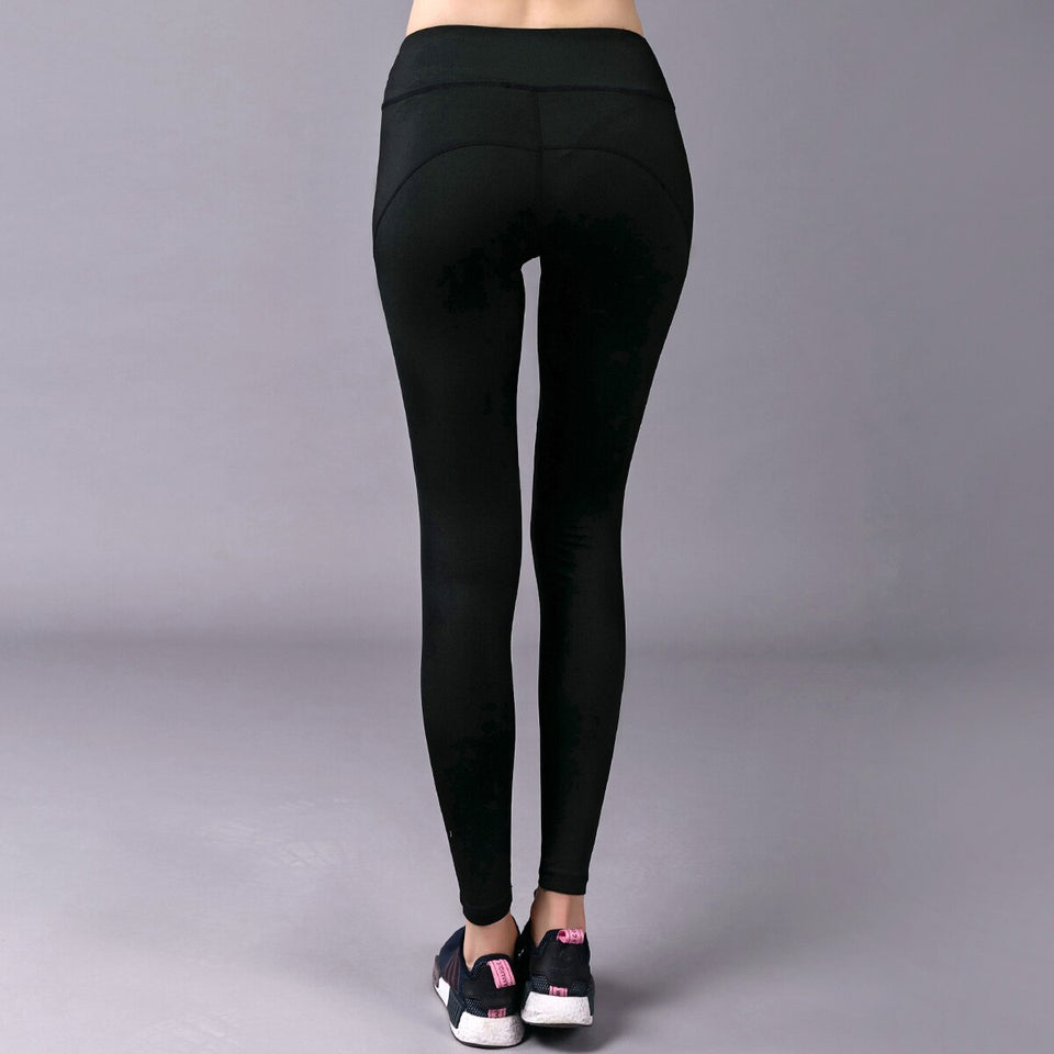 High Waisted Compression  Black Yoga Leggings