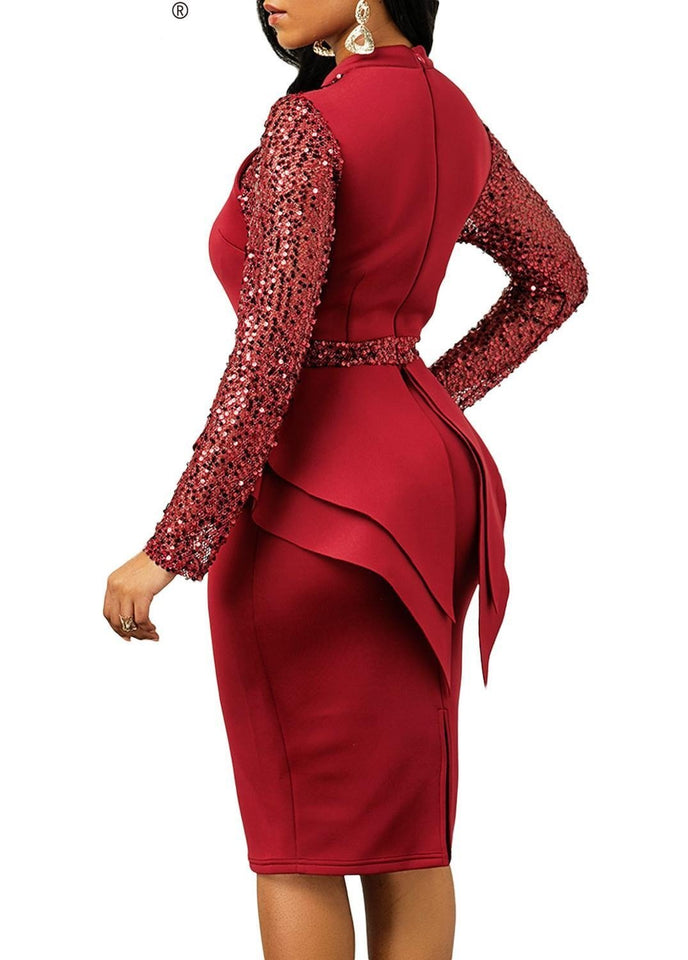 African Women's Pencil Midi Dress