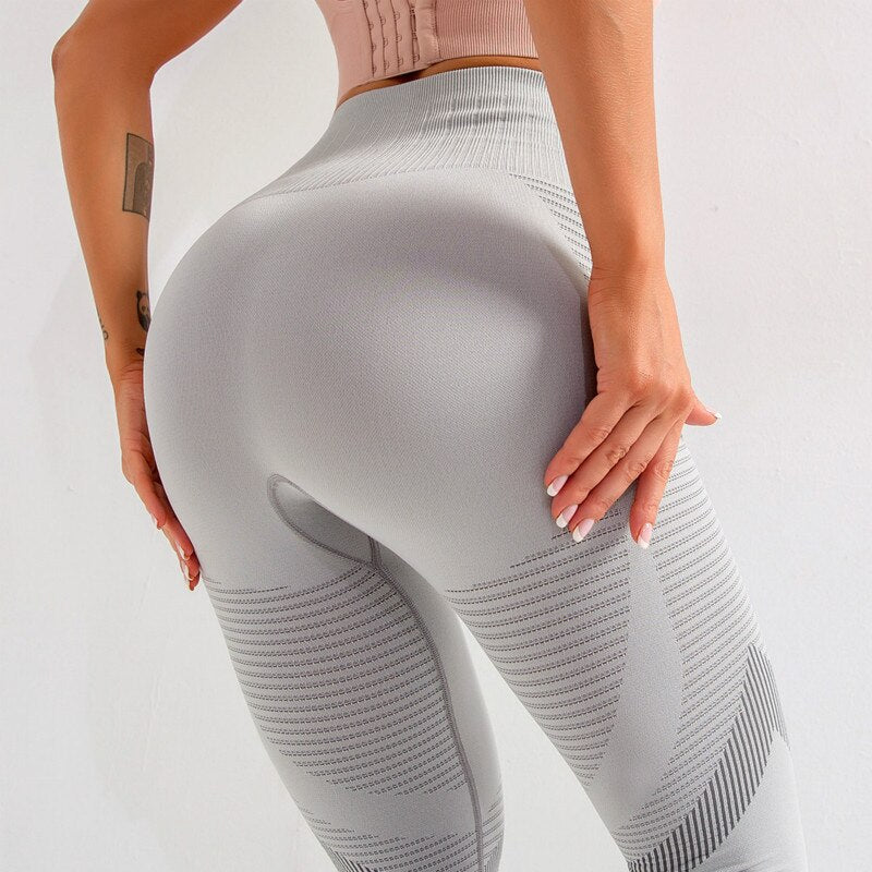 Women's high waisted Tummy Control Seamless  Stretchy Workout  Compression Leggings