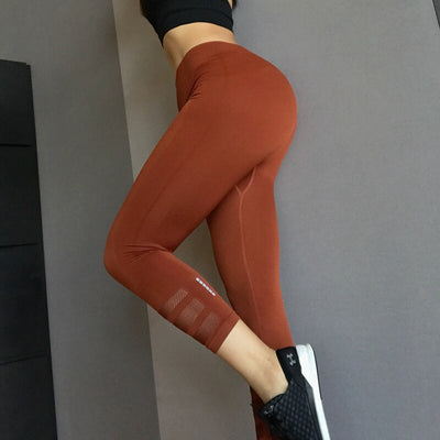 Reflective Navy Mesh High Waist Capri Gym Legging