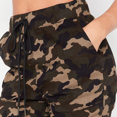 High Quality Skinny Camouflage Hip Hop Army Green Workout Leggings