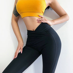 Black Naked-Feel High Waisted Tights Quick Dry Tummy Control Gym Yoga Pants