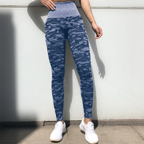 High waisted legging blue Camo Seamless