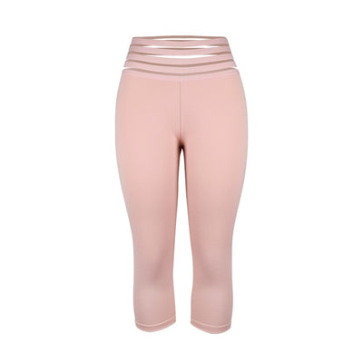 Pink yoga pants-Scrunchy leggings with Butt Pockets High Waist for Running