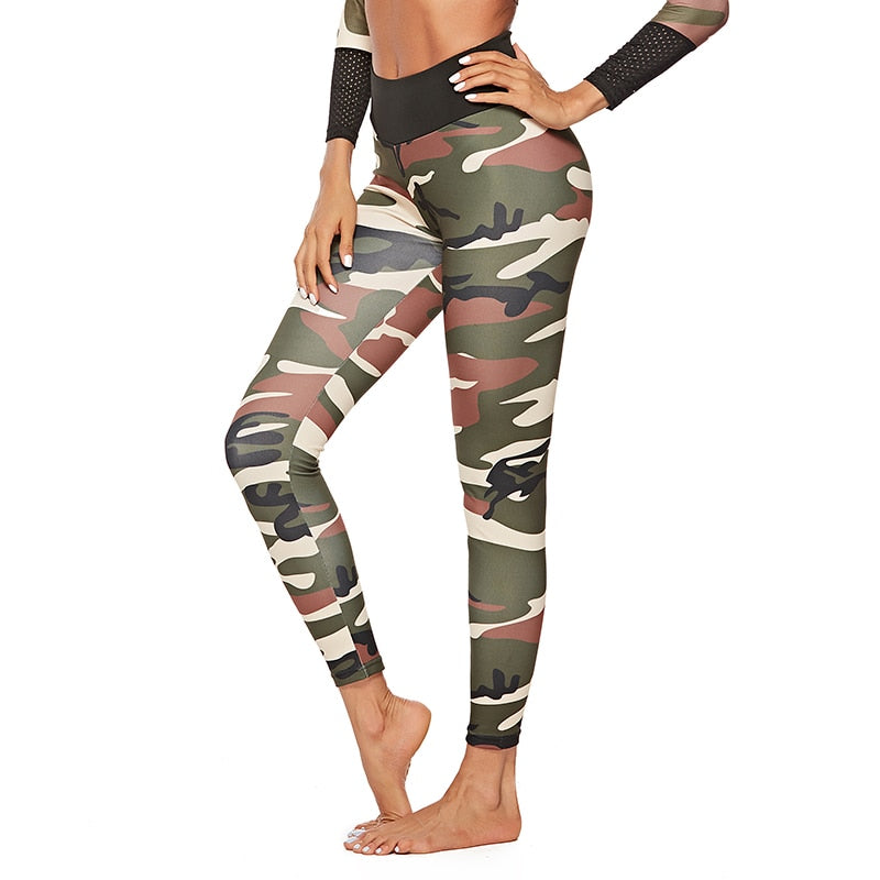 Elastic Quick Dry Slim Long Army Green Athleisure Pants