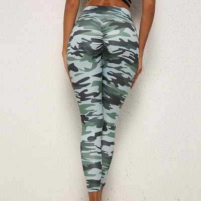 Quickly Drying Breathable High Waist Slim Sexy army green workout leggings