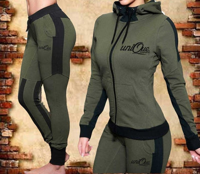 Outfits 2 Piece Women Running Set Hooded Sweatshirts with Pants