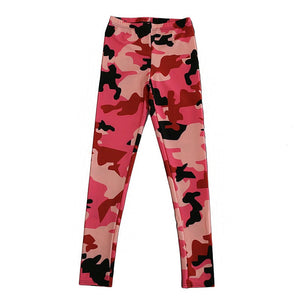 S-XL Pink Camouflage Workout Leggings
