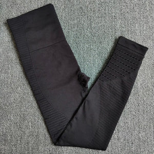 Black 2-Seamless compression high waist leggings cheap